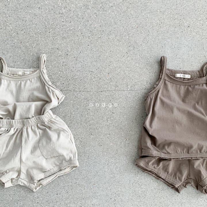 ANGGO - Korean Children Fashion - #Kfashion4kids - Monshell Top Bottom Set - 11