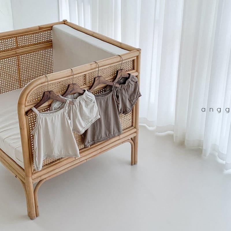 ANGGO - Korean Children Fashion - #Kfashion4kids - Monshell Top Bottom Set - 2