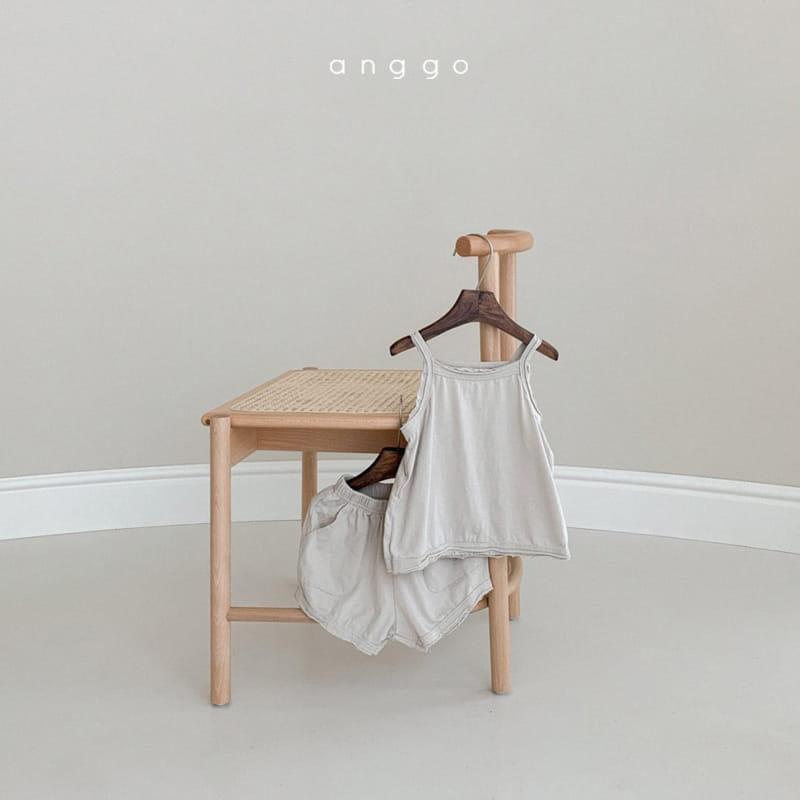 ANGGO - Korean Children Fashion - #Kfashion4kids - Monshell Top Bottom Set - 3