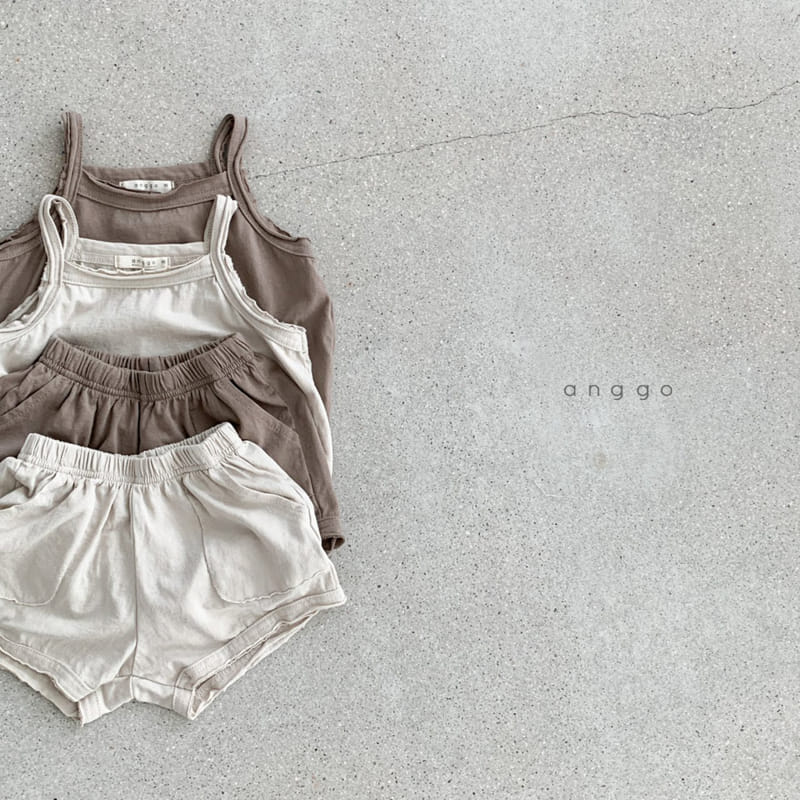 ANGGO - Korean Children Fashion - #Kfashion4kids - Monshell Top Bottom Set - 7