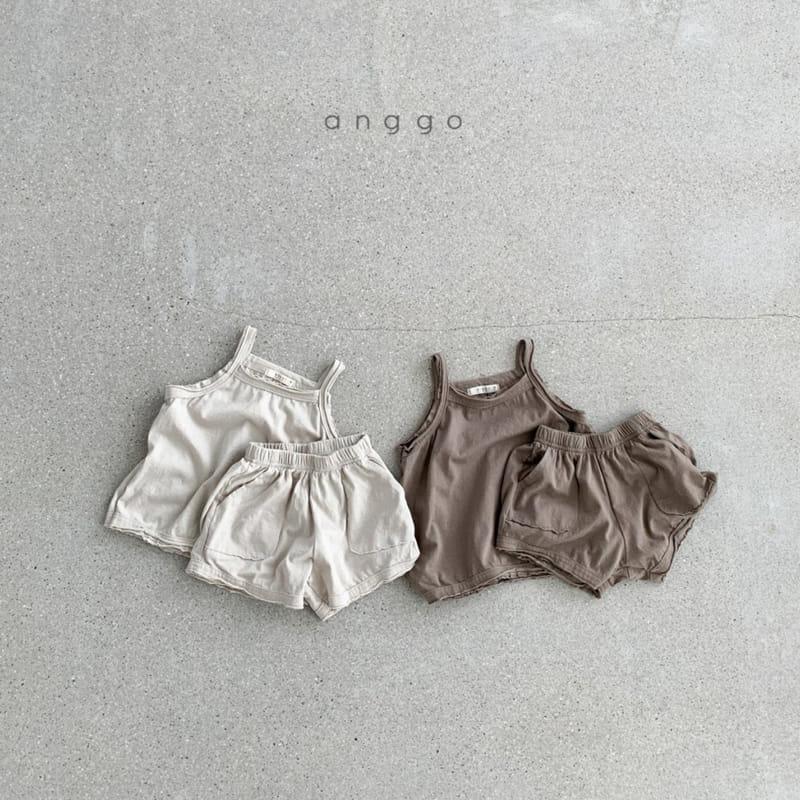 ANGGO - Korean Children Fashion - #Kfashion4kids - Monshell Top Bottom Set - 8