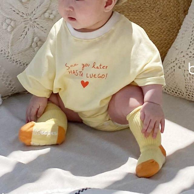 BEBE NINE - BRAND - Korean Children Fashion - #Kfashion4kids - Summer Heart Bodysuit