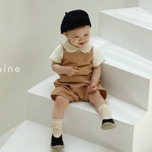 BEBE NINE - Korean Children Fashion - #Kfashion4kids - Day Dungarees Bodysuit