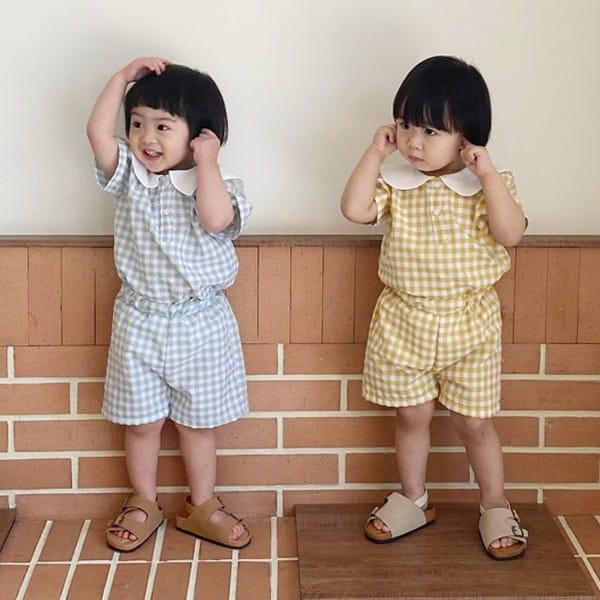 BEBE NINE - Korean Children Fashion - #Kfashion4kids - Little Kids Sailor Top Bottom Set