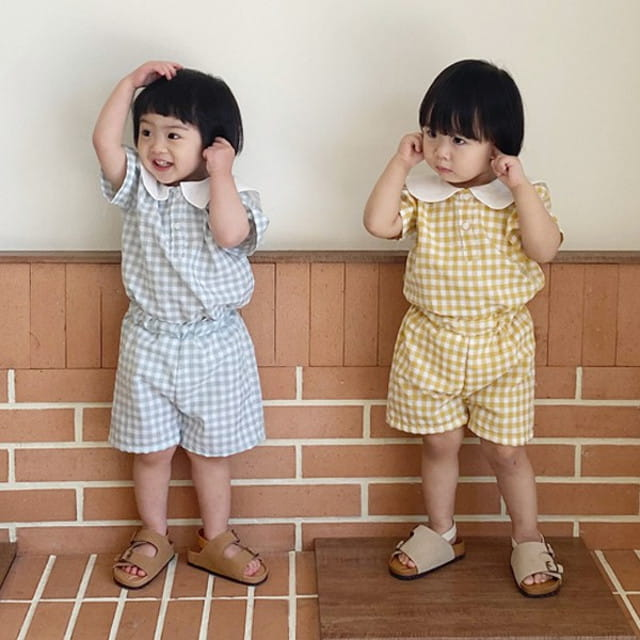 BEBE NINE - BRAND - Korean Children Fashion - #Kfashion4kids - Little Kids Sailor Top Bottom Set
