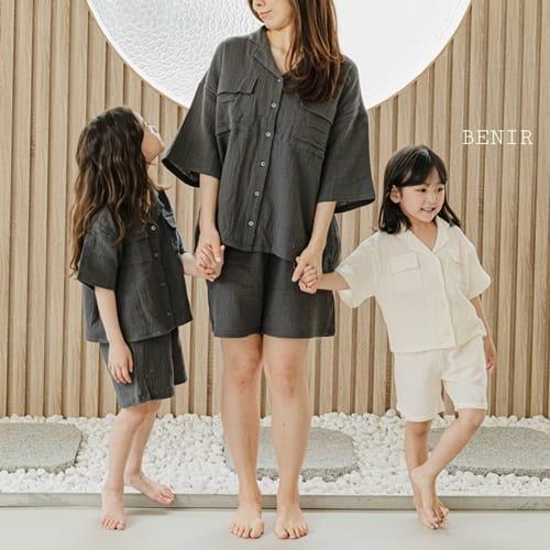 BENIR - BRAND - Korean Children Fashion - #Kfashion4kids - Pocket Top Bottom Set with Mom
