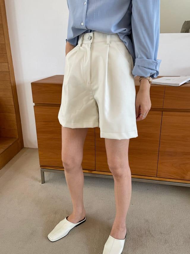 BETTER - Korean Children Fashion - #Kfashion4kids - Scotch Leather Shorts - 3