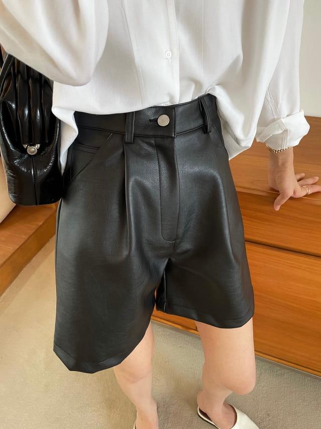 BETTER - BRAND - Korean Children Fashion - #Kfashion4kids - Scotch Leather Shorts