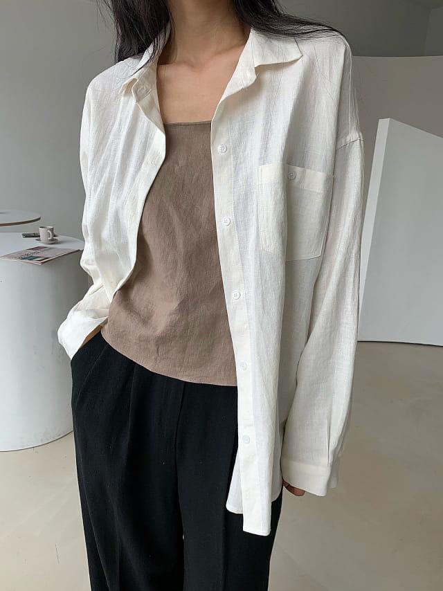 BETTER - BRAND - Korean Children Fashion - #Kfashion4kids - Plain Linen Shirt