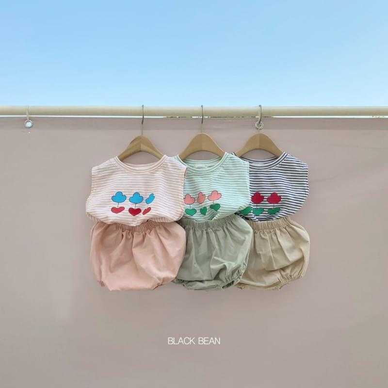 BLACK BEAN - Korean Children Fashion - #Kfashion4kids - Uni Bebe Top Bottom Set