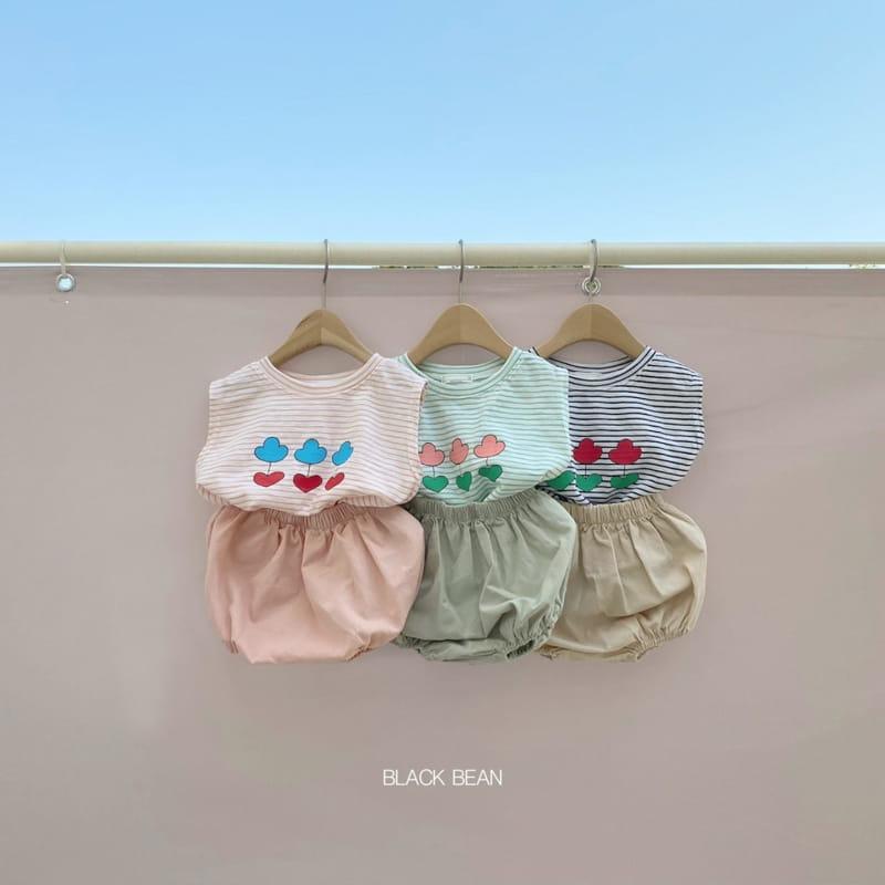 BLACK BEAN - Korean Children Fashion - #Kfashion4kids - Uni Bebe Top Bottom Set - 2