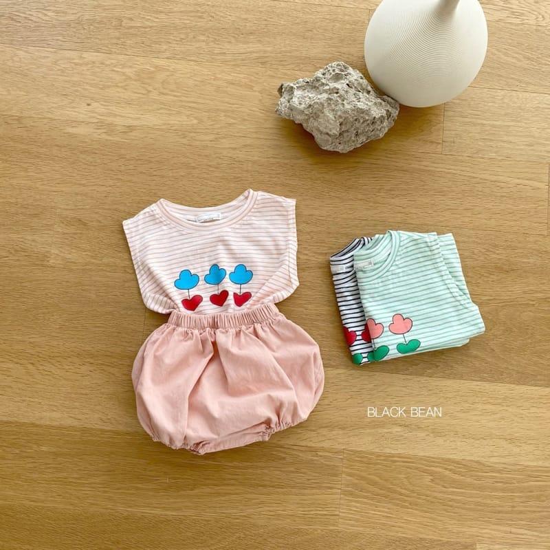 BLACK BEAN - Korean Children Fashion - #Kfashion4kids - Uni Bebe Top Bottom Set - 7