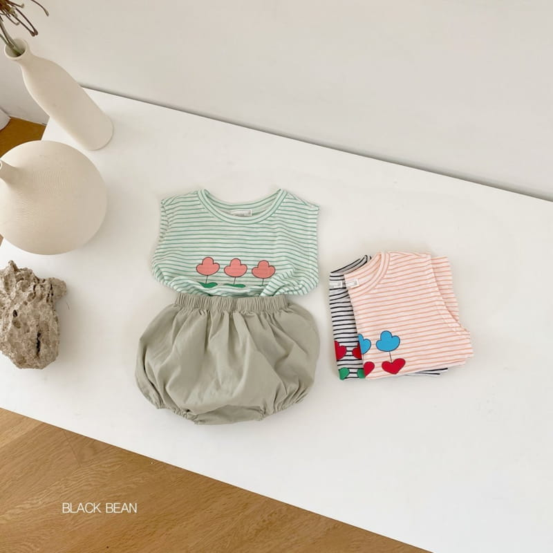 BLACK BEAN - Korean Children Fashion - #Kfashion4kids - Uni Bebe Top Bottom Set - 9