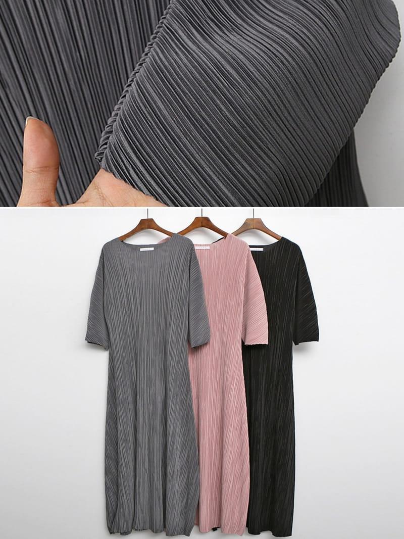 BLACKBANANA - Korean Children Fashion - #Kfashion4kids - Maxi Wrinkle One-piece