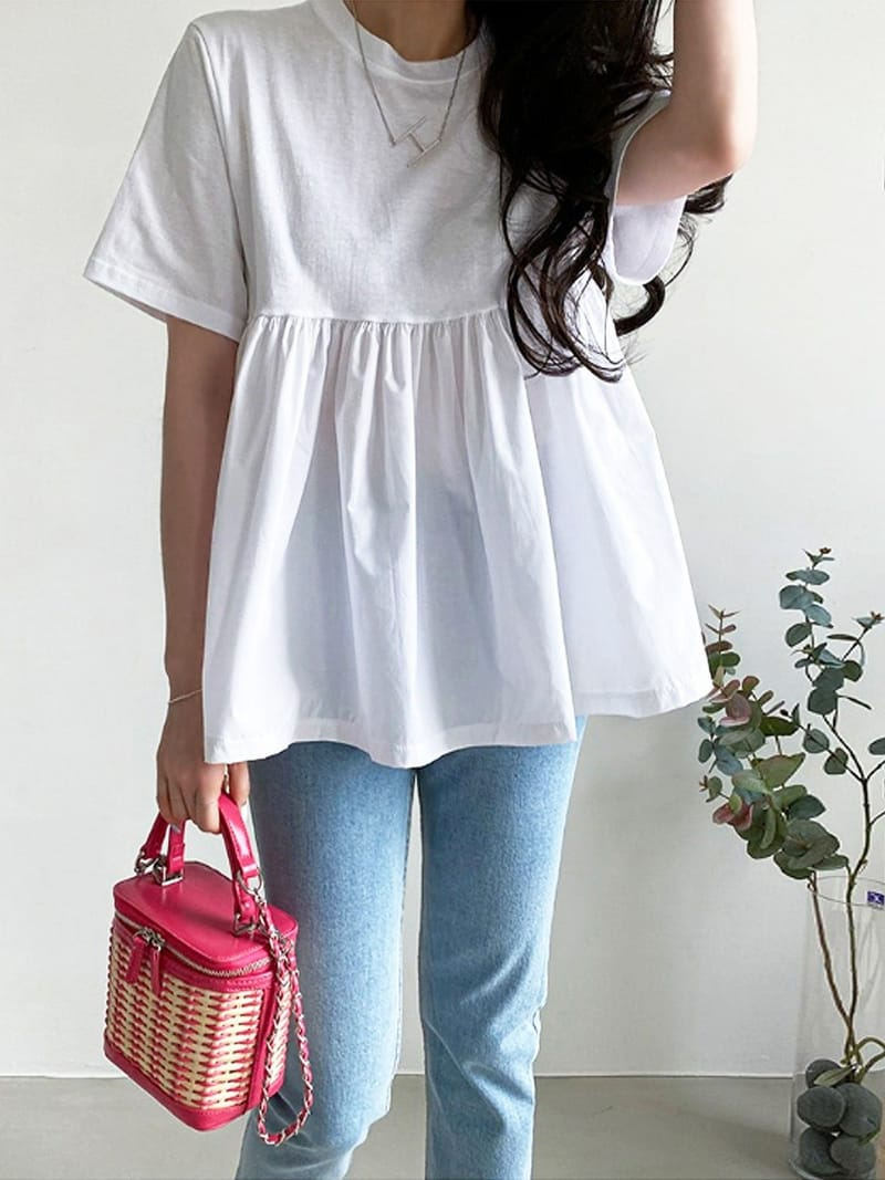 BLACKBANANA - Korean Children Fashion - #Kfashion4kids - Short Sleeves Bagelty