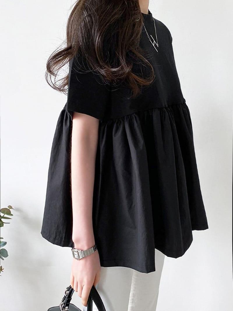 BLACKBANANA - Korean Children Fashion - #Kfashion4kids - Short Sleeves Bagelty - 3