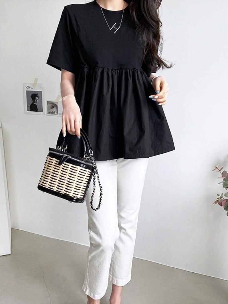 BLACKBANANA - Korean Children Fashion - #Kfashion4kids - Short Sleeves Bagelty - 4