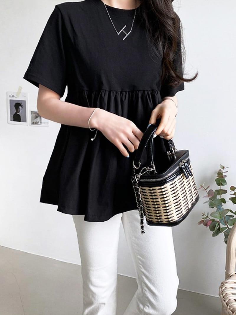 BLACKBANANA - BRAND - Korean Children Fashion - #Kfashion4kids - Short Sleeves Bagelty