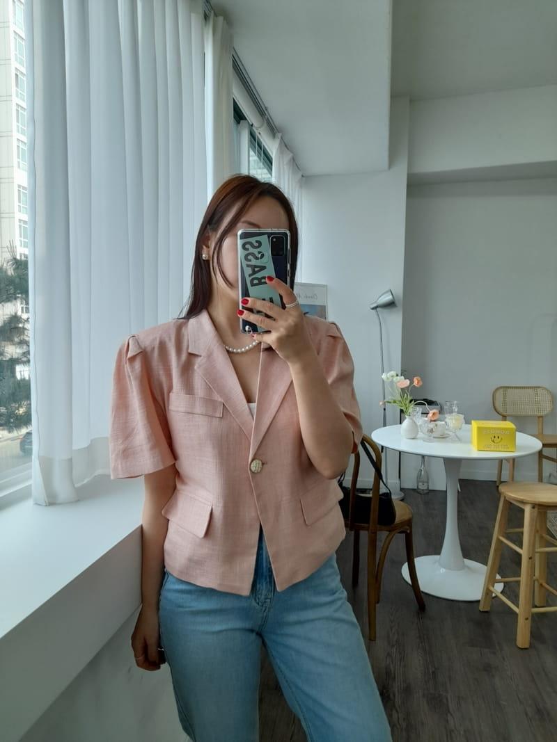 BLEND - Korean Children Fashion - #Kfashion4kids - Puff Linen Jacket - 2