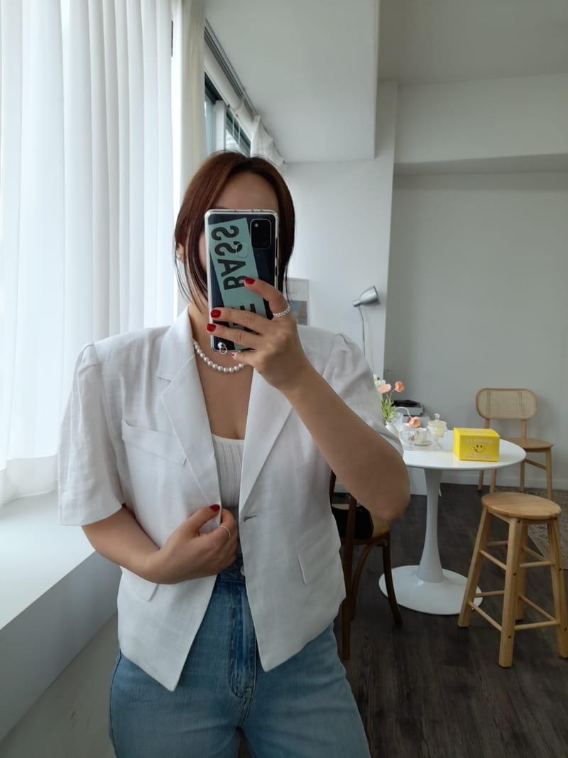 BLEND - Korean Children Fashion - #Kfashion4kids - Puff Linen Jacket - 3