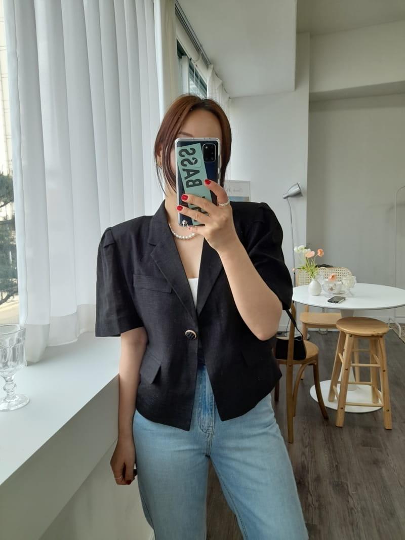 BLEND - Korean Children Fashion - #Kfashion4kids - Puff Linen Jacket - 4