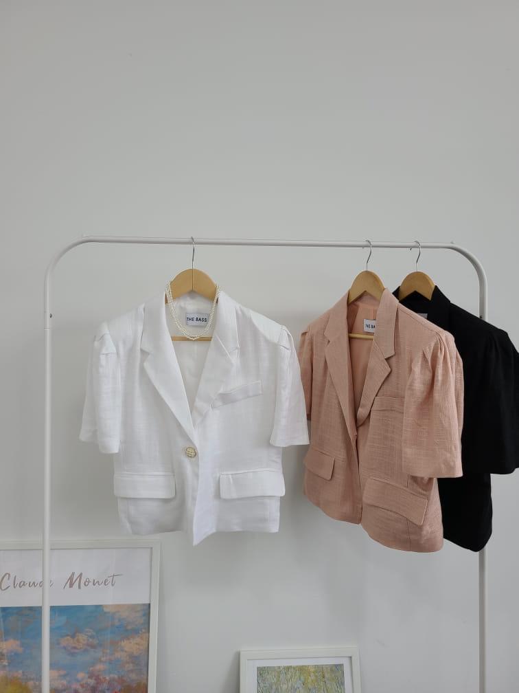 BLEND - Korean Children Fashion - #Kfashion4kids - Puff Linen Jacket - 5