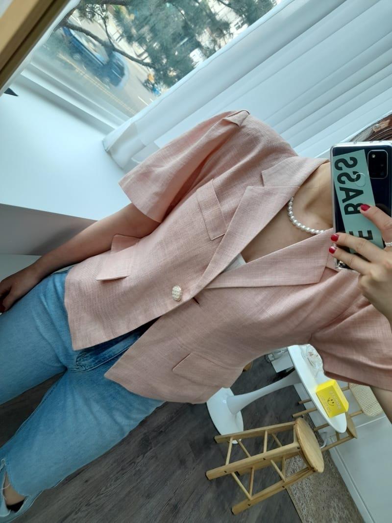 BLEND - BRAND - Korean Children Fashion - #Kfashion4kids - Puff Linen Jacket