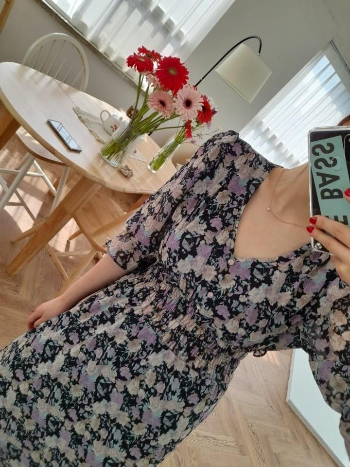 BLEND - Korean Children Fashion - #Kfashion4kids - Lisa Smocked Flower One-piece - 3