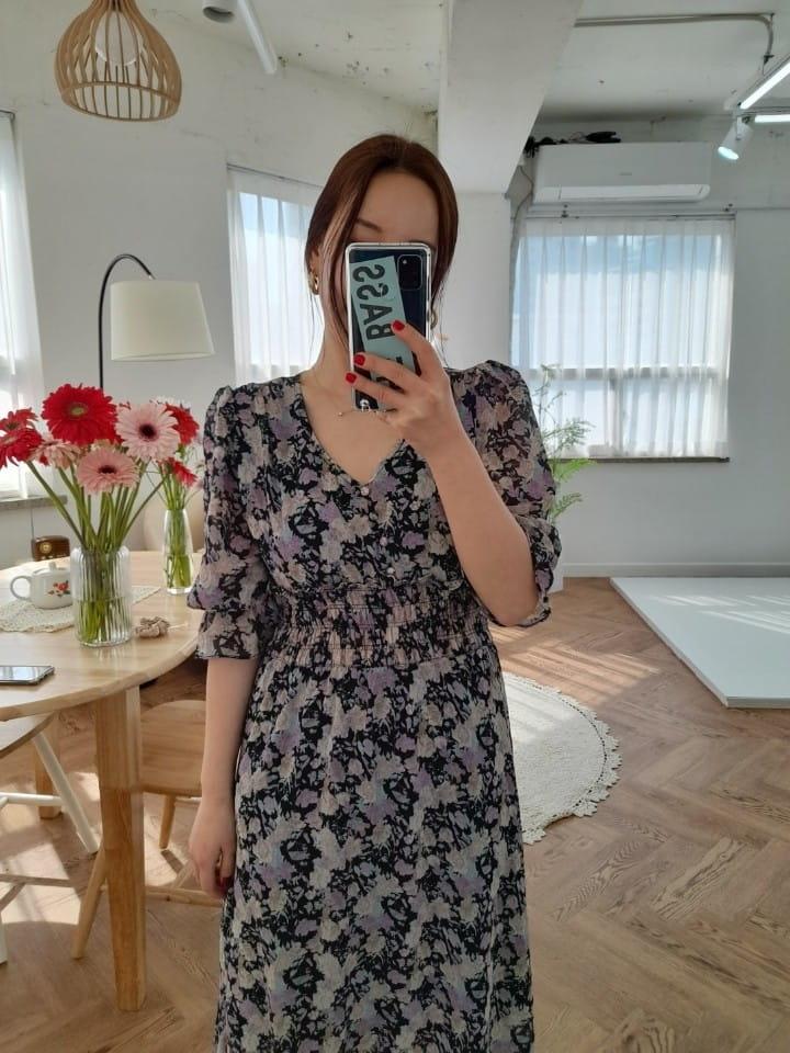 BLEND - Korean Children Fashion - #Kfashion4kids - Lisa Smocked Flower One-piece - 4