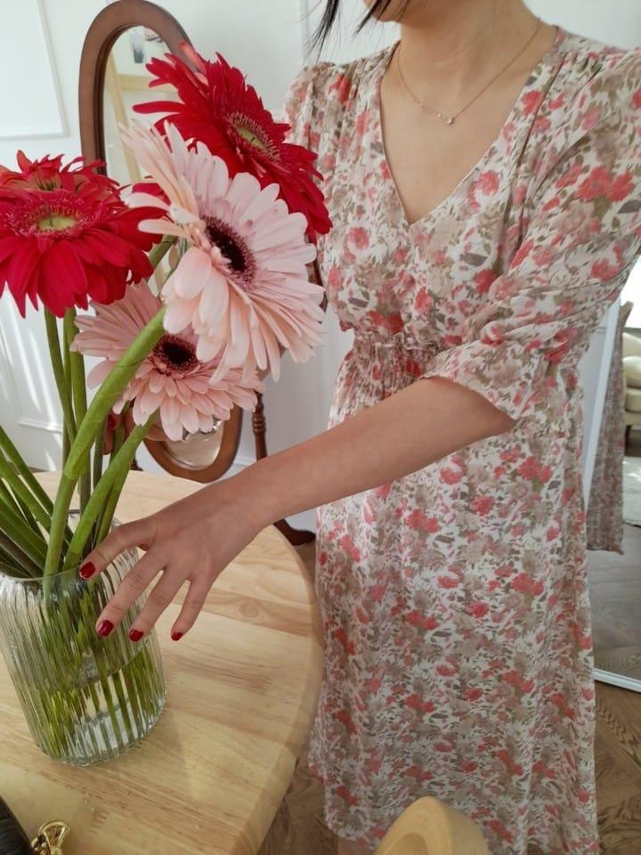 BLEND - BRAND - Korean Children Fashion - #Kfashion4kids - Lisa Smocked Flower One-piece