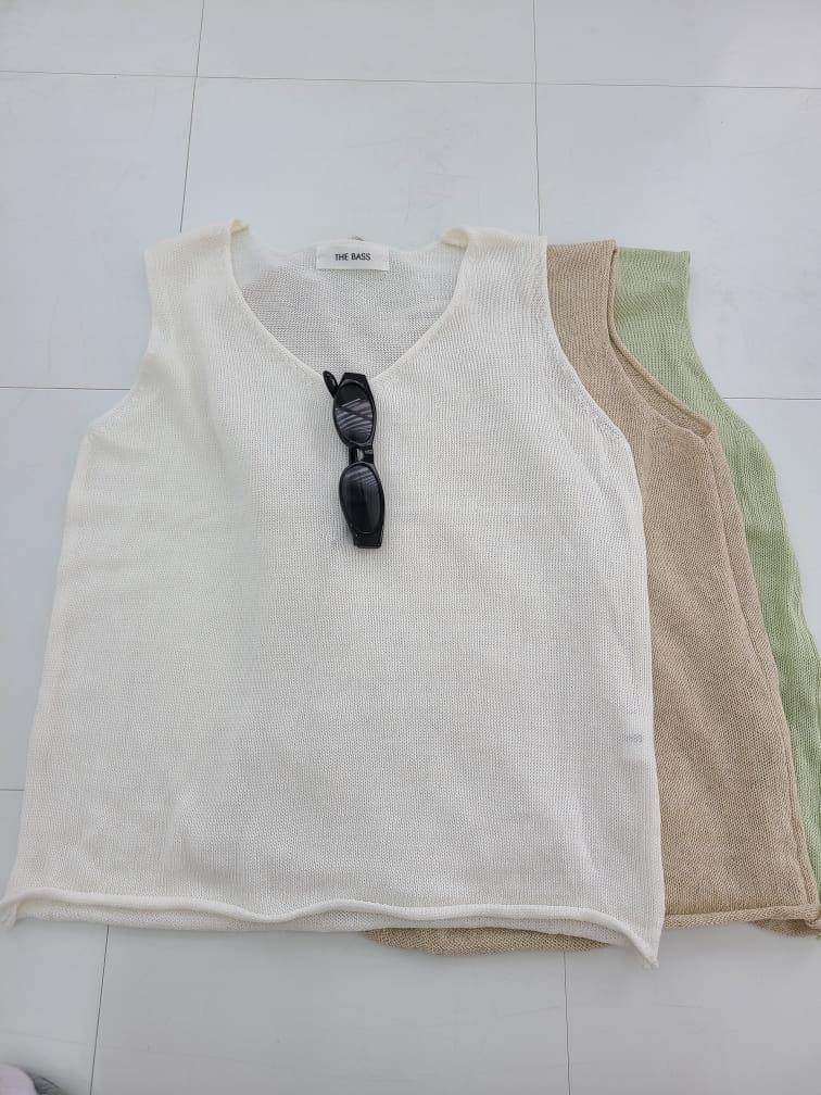 BLEND - Korean Children Fashion - #Kfashion4kids - Round V Sleeveless