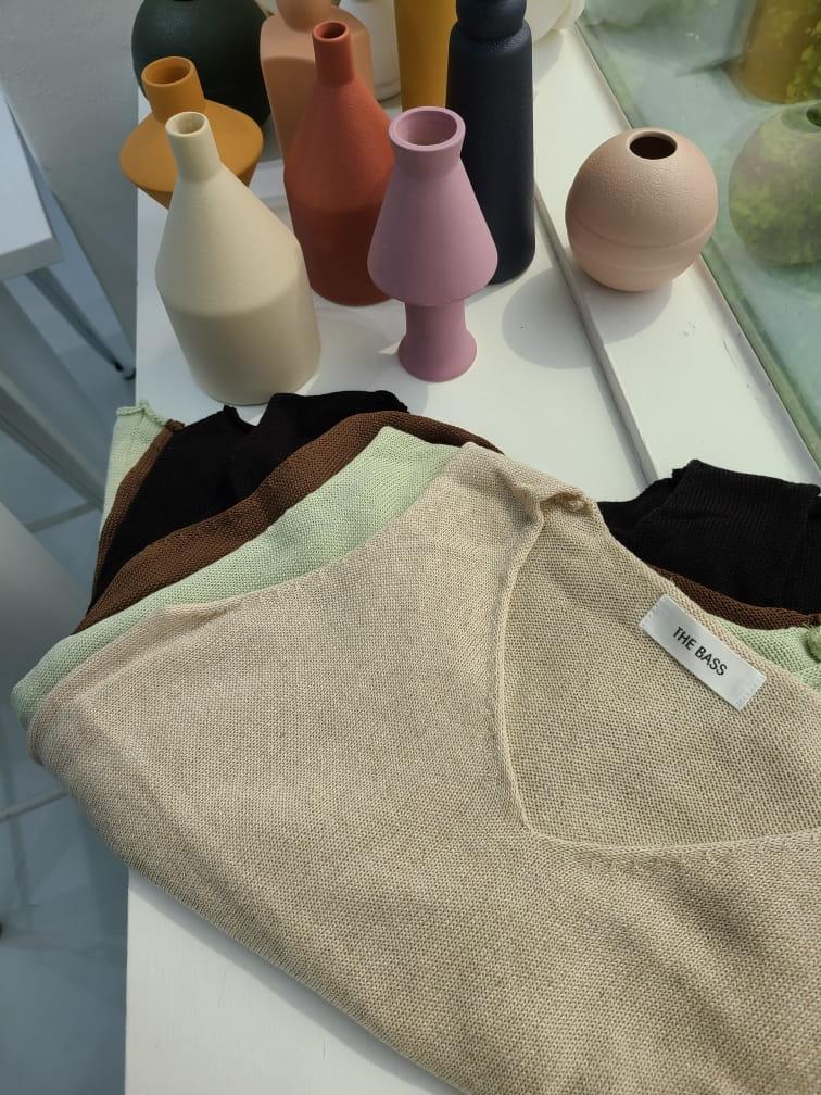 BLEND - BRAND - Korean Children Fashion - #Kfashion4kids - Round V Sleeveless