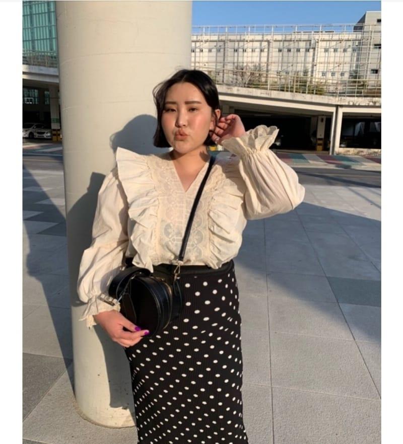 BLEND - Korean Children Fashion - #Kfashion4kids - Dot Pleated Long Skirt - 4