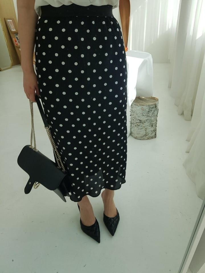 BLEND - Korean Children Fashion - #Kfashion4kids - Dot Pleated Long Skirt - 5