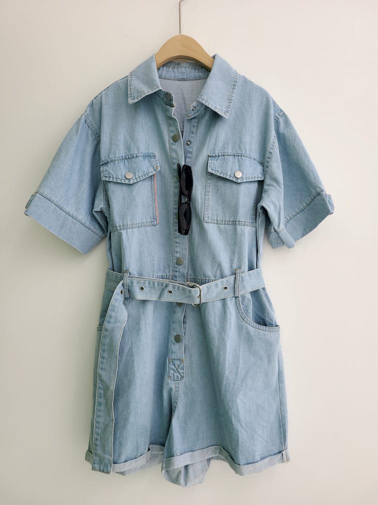 BLEND - Korean Children Fashion - #Kfashion4kids - Denim Jumpsuit