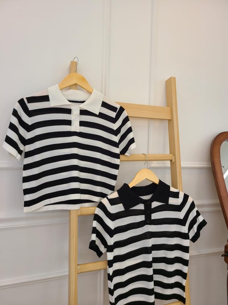 BLEND - Korean Children Fashion - #Kfashion4kids - Stripes Collar Knit - 3