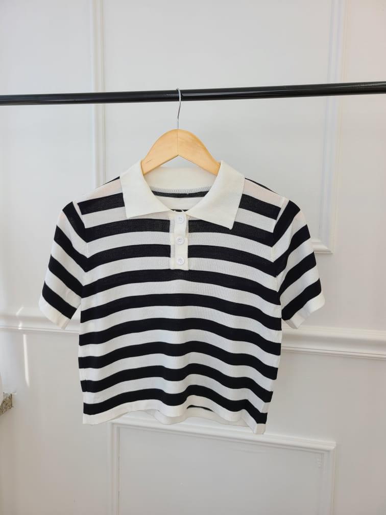 BLEND - Korean Children Fashion - #Kfashion4kids - Stripes Collar Knit - 4