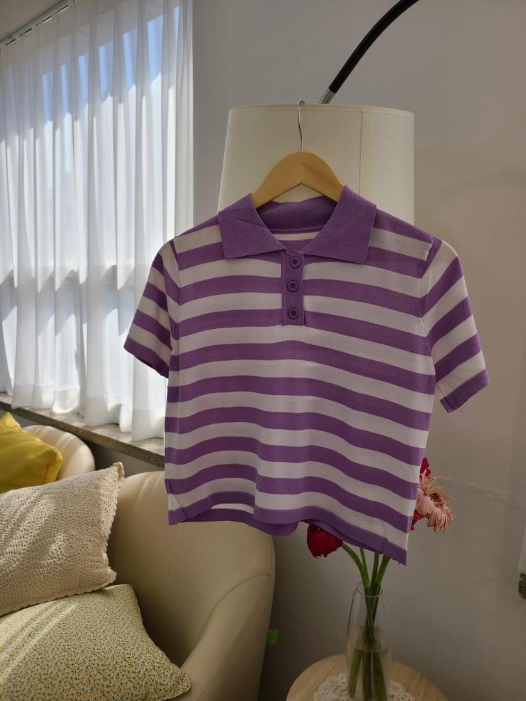 BLEND - Korean Children Fashion - #Kfashion4kids - Stripes Collar Knit - 5