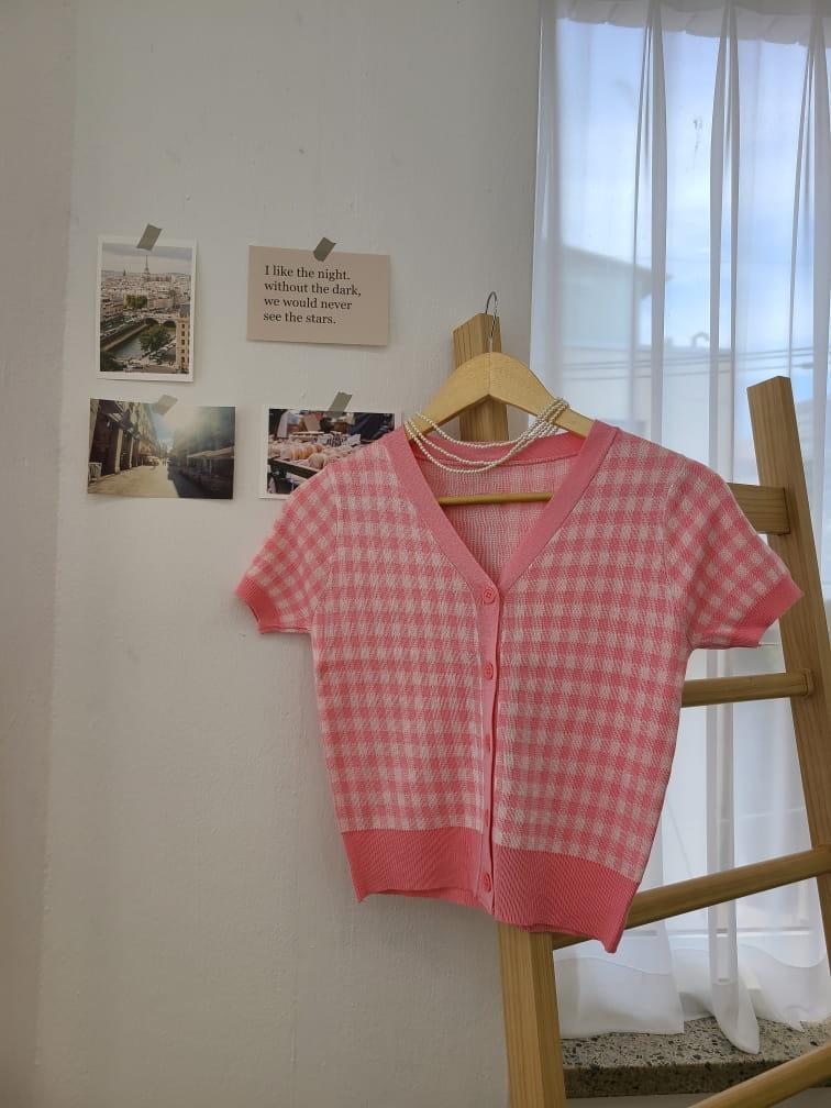 BLEND - Korean Children Fashion - #Kfashion4kids - Gingham Checked Cardigan - 4