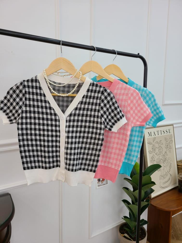 BLEND - Korean Children Fashion - #Kfashion4kids - Gingham Checked Cardigan - 5
