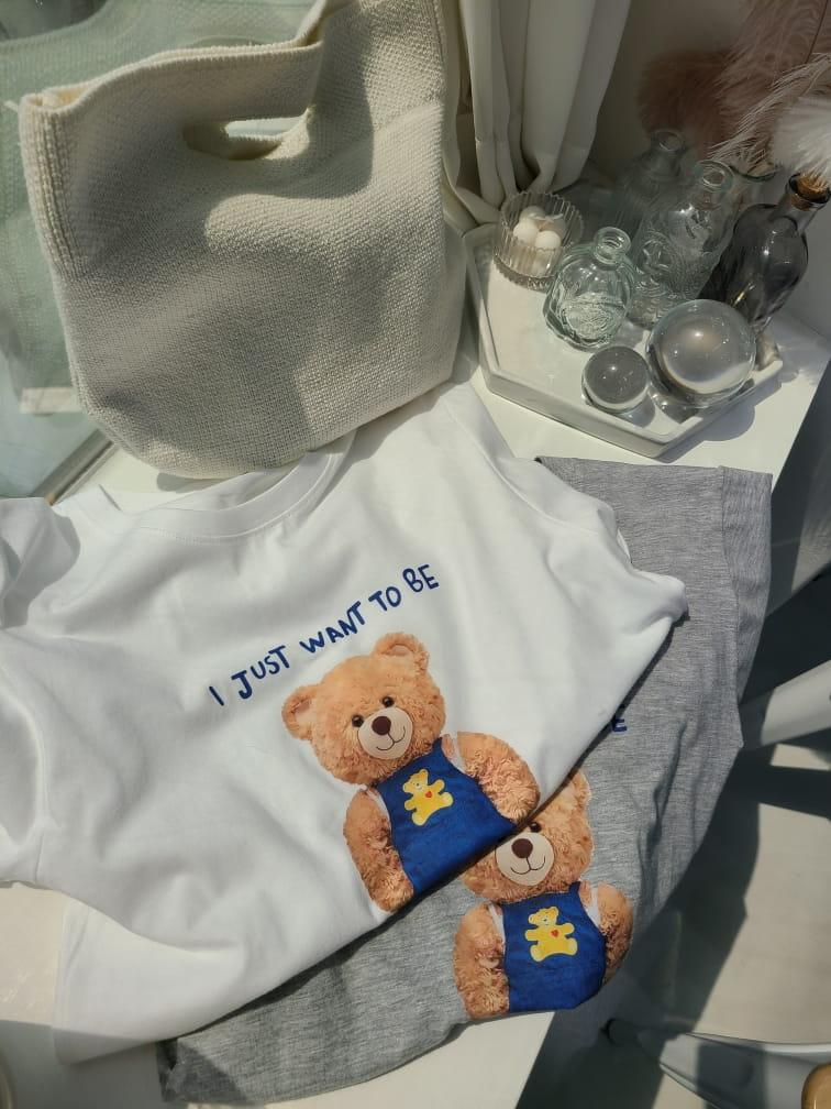 BLEND - Korean Children Fashion - #Kfashion4kids - Teddy Bear Tee