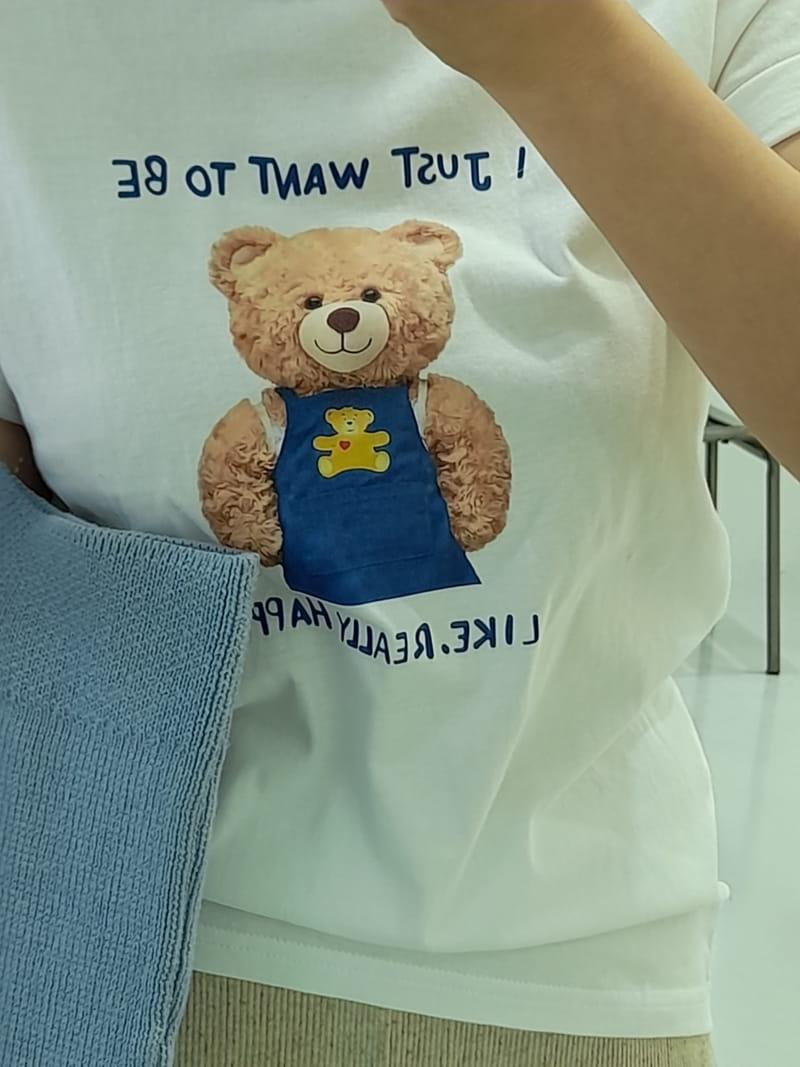 BLEND - Korean Children Fashion - #Kfashion4kids - Teddy Bear Tee - 3