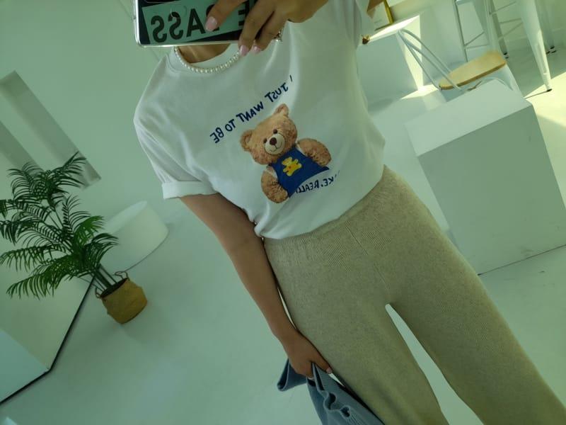 BLEND - Korean Children Fashion - #Kfashion4kids - Teddy Bear Tee - 4