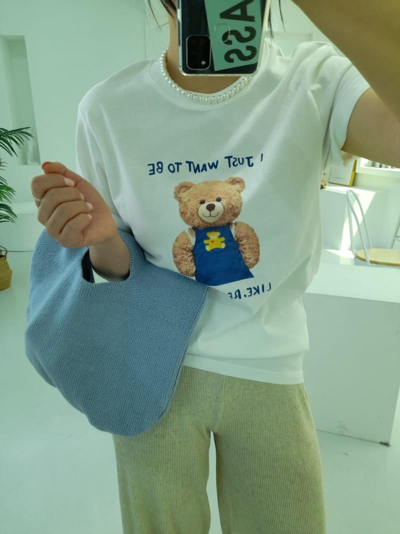 BLEND - Korean Children Fashion - #Kfashion4kids - Teddy Bear Tee - 5