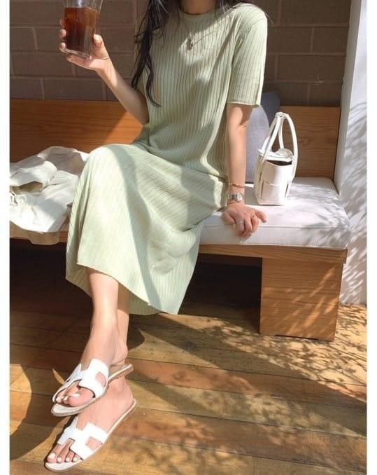 BLEND - Korean Children Fashion - #Kfashion4kids - Rib Linen One-piece