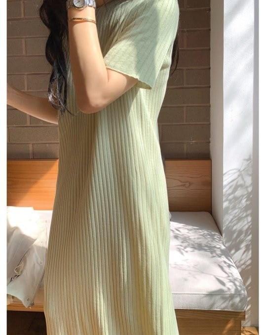 BLEND - Korean Children Fashion - #Kfashion4kids - Rib Linen One-piece - 3