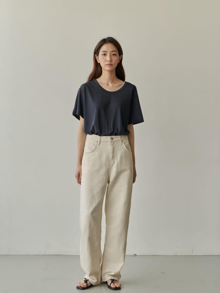 BRUNI - Korean Children Fashion - #Kfashion4kids - Linen Natural Jeans