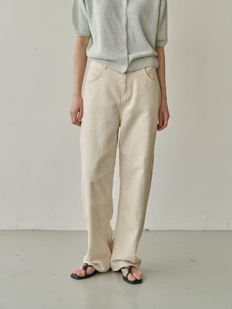 BRUNI - Korean Children Fashion - #Kfashion4kids - Linen Natural Jeans - 2