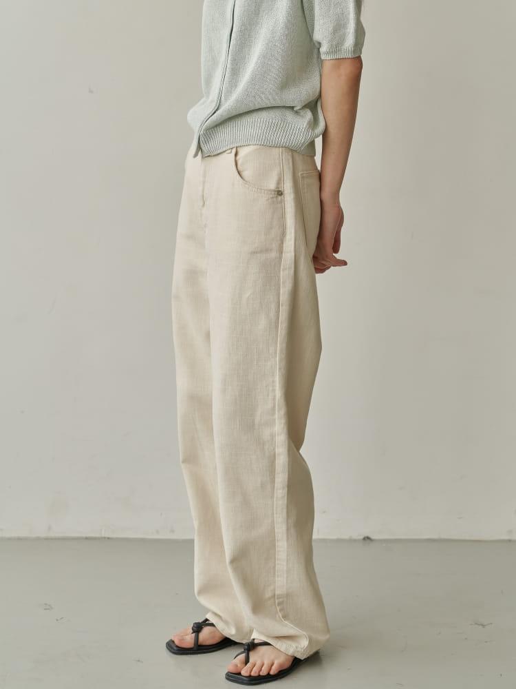 BRUNI - Korean Children Fashion - #Kfashion4kids - Linen Natural Jeans - 3
