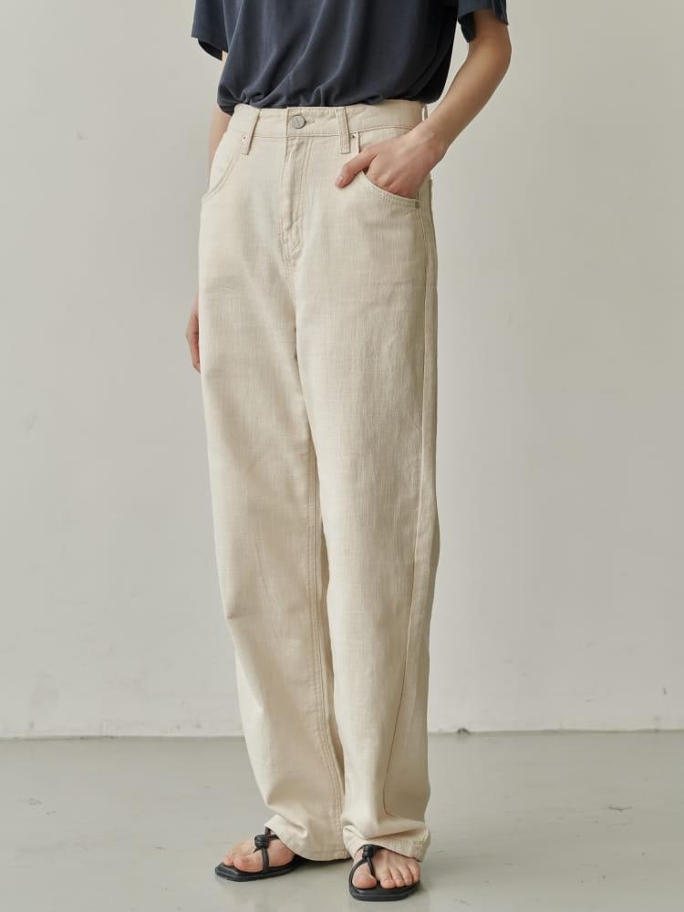 BRUNI - BRAND - Korean Children Fashion - #Kfashion4kids - Linen Natural Jeans